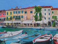 Promenade, Gardasee, Hafen, Boot