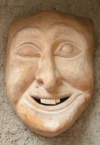 Kunsthandwerk, Holz, Maske