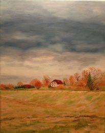 Wolken untruttal herbst, Malerei, Regen