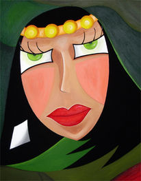 Frau, Portrait, Gesicht, Figural