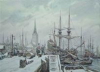 Reval, Hafen, Anlegestelle, Malerei