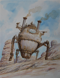 Steampunk, Malerei