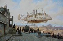 Steampunk, Dampf, Dampfschiff, Viktorianisches