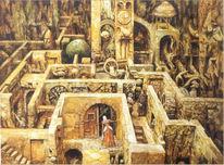 Fantasie, Labyrinth, Malerei, Eingang