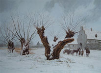 Schnee, Wächter, Baum, Winter