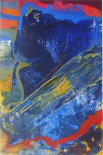 Expressionismus, Festung, Landschaft, Malerei