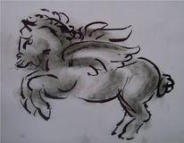 Pegsus, Pferde, Grafit, Zeichnungen