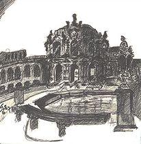 Zwinger, Dresden, Zeichnungen