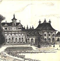 Pillnitz, Dresden, Zeichnungen