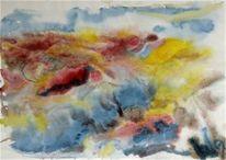 Aquarellmalerei, Peer gynt suit, Blumengarten, Willigottschalk