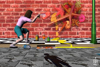 Digitale kunst, Graffiti