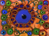 Kette, Augen, Pupille, Digitale kunst