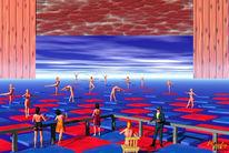 Publikum, Tänzerinnen, Bühne, Digitale kunst
