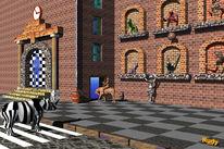 Zebrastreifen, Nashorn, Haus, Digitale kunst