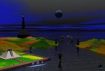 Leuchtturm, Dunkel, Licht, Schiff