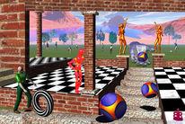 Spiel, Würfel, Menschen, Digitale kunst