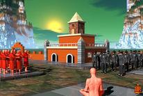 Mönch, Tempel, Gewalt, Meditation