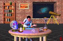 Magie, Alchemie, Fernrohr, Digitale kunst