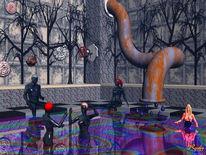 Ölmalerei, Badend, Rohr, Digitale kunst