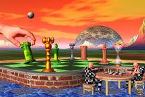 Spieler, Hand, Schachbrett, Schachfiguren