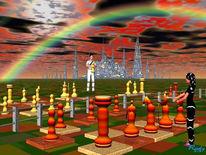 Schachfiguren, Spiel, Regenbogen, Digitale kunst