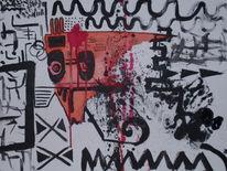 Chaos, Gesicht, Malerei, Abstrakt