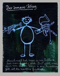 Friedlich, Innerer krieg, Ausstellung, Zeichnungen