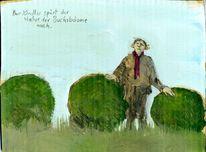 Spüren, Natur, Buchsbaum, Grafik
