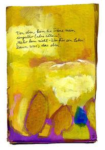 Tränen, Himmel, Baum, Malerei