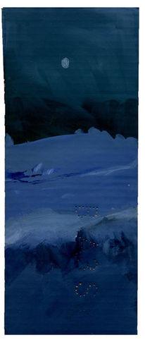 Nacht, Schnee, Malerei,