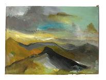 Horizont, Himmel, Berge, Malerei