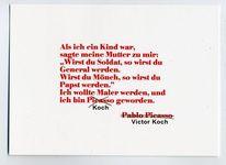 Malen, Mönch, Koch, Picasso