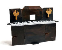 Musik, Klavier, Hände, Plastik