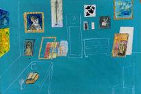 Blau, Atelier, Malerei