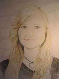 Frau, Blond, Portrait, Zeichnungen
