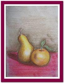 Rosa, Birne, Grau, Apfel