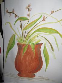 Malerei, Stillleben, Vase