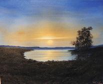 Ölmalerei, Malerei, Abendlicht