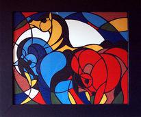 Mosaik, Pferde, Kunsthandwerk
