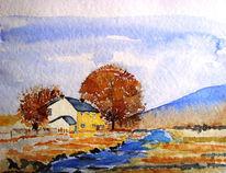 Natur, Malerei, Haus