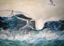 Vogel, Malerei, Tiere, Wind