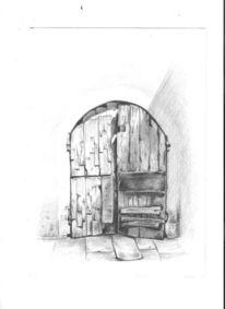 Tor, Alt, Holz, Tür