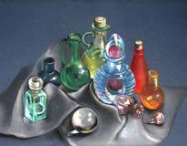 Parfüm, Glas, Ölmalerei, Glaskugel