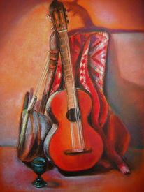 Gitarre, Türkis, Schatten, Musikinstrument