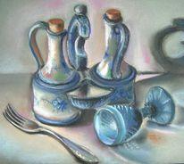 Malerei, Stillleben, Blau