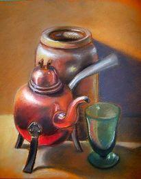 Ton, Kupfer, Glas, Malerei