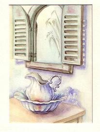 Krug, Spiegel, Provence, Malerei