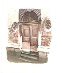 Kanal, Venedig, Tür, Alt