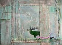 Türkis, Abstrakt, Acrylmalerei, Beziehung