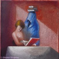 Malerei, Figural, Buch,